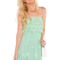 Celia Lace Dress - Mint