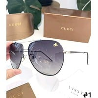 GUCCI 2019 new men and women models large frame polarized sunglasses #1