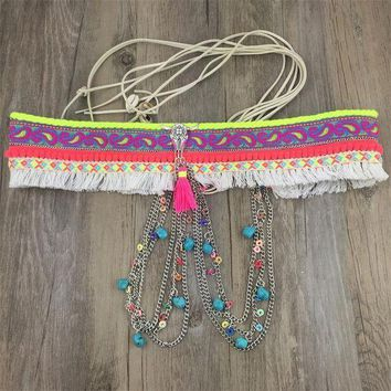 2017 New Arrival Gypsy Silver Metal Dangle Hippie Boho Flower Turkish Bohemian Shimmy Belt Dance Body Chain Coins Belly