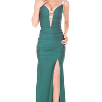 Plunging V-neck Atria Prom Dress