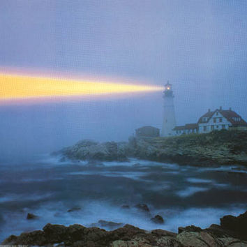 Lighthouse Portland Head Maine Poster 24x36