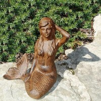 Cast Iron Mermaid Garden Figure
