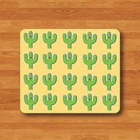 Castus Cartoon Succulent Plants Pattern Mouse Pad Funny Green Desert Desk Deco Rubber MousePad Computer Pad Personalized Gift Hipster Yellow