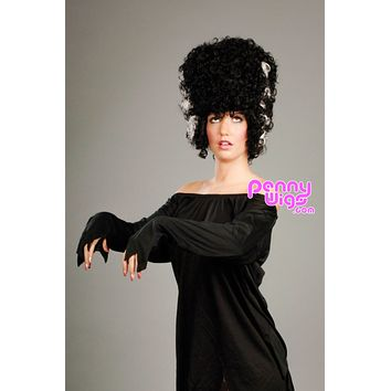 Mrs. Frankenstein - Black/White Full Wig