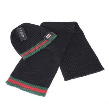 GUCCI Fashion Winter Knit Women Men Beanies Scarf &Cap