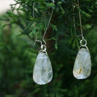 Dandelions earrings in resin. Real dandelion seed jewelry. A reminder about summer.