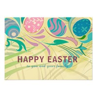 Easter Pastel Eggs Greeting Card