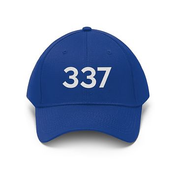 Louisiana 337 Area Code Embroidered Twill Hat