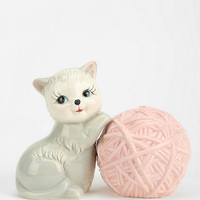 Kitten & Yarn Salt And Pepper Shaker - Set Of 2 - Urban Outfitters