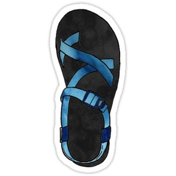 'Watercolor Chaco | Black And Blue' Sticker by meg779