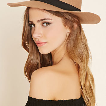Ribbon Trim Floppy Hat