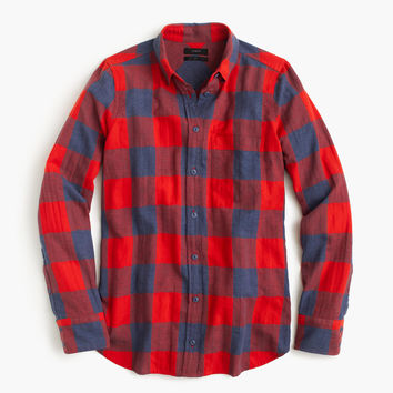 Boy shirt in fiery sunset buffalo check : Women button-ups | J.Crew