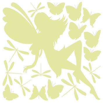 Brewster Wallpaper CR-79226 Fairy Glow In The Dark Wall Decals