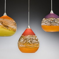 Strata Pendant Lights by Danielle Blade and Stephen Gartner: Art Glass Pendant Lamp - Artful Home