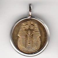 Egypt King Tut  Coin Pendant (E-805)