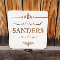 Engraved Wedding Sign, Table Sign, Wood Custom Personalized, Groom, Bride