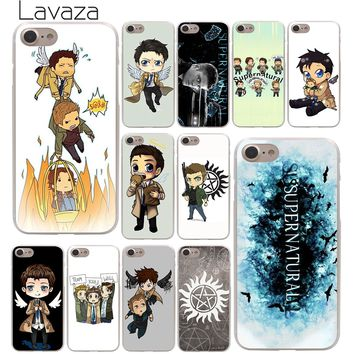 Lavaza cool Supernatural tv logo Hard Phone Cover Case for Apple iPhone 10 X 8 7 6 6s Plus 5 5S SE 5C 4 4S Coque Shell
