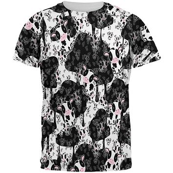 Cute Mad Cow Pattern All Over Mens T Shirt