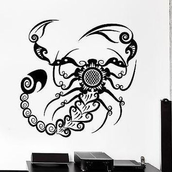 Wall Decal Scorpion Animal Ornament Tribal Mural Vinyl Decal Unique Gift (z3184)