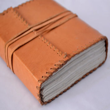 Leather Journal - Leather Diary - Leather Notebook - Special Designed for Travelers, Writers, Artist - Handmade Leather Journal