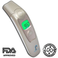 ★NEW★ GOLD Digital Forehead And Ear Thermometer. Medical Thermometer Is Suitable For Baby, Infant, Toddler and Adults. Get Instant Readings. FDA Approved and CE Pass. Released Oct 2015