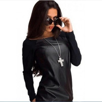 Spring Autumn Women's Casual Sweatshirts Full Sleeve Pullovers O Neck Street Splicing Style Hoodies for women