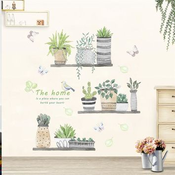 3d vivid garden plant butterfly wall stickers nursery children window home decor flower wall decal art poster