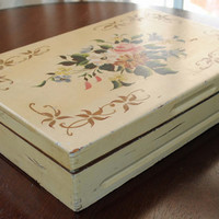 Upcycled Vintage Silverware Box - Now it's a Coffee Table Box for Remotes