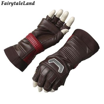 Avengers Captain America Cosplay Accessory Superhero cosplay cycling gloves Fancy leather cosplay gloves Captain America