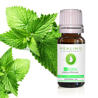 Melissa essential oil- Lemon balm- 100% Pure melissa oil,  Ayurvedic essential oil, therapeutic melissa, Healing Aromatherapy oil, Mint balm