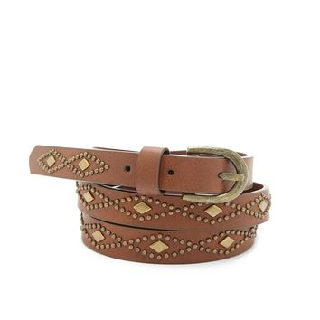 Faux Leather Geo Belt