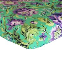Fitted Crib Sheets | Love Bliss Emerald Purple