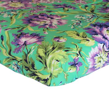 Fitted Crib Sheets   Love Bliss Emerald Purple