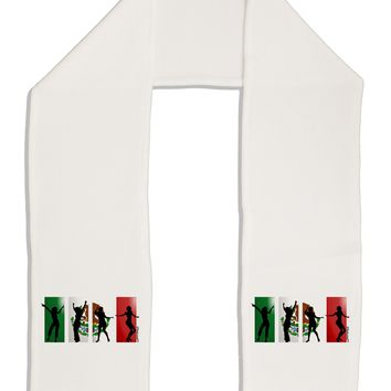 """Mexican Flag - Dancing Silhouettes Adult Fleece 64"""" Scarf by TooLoud"""
