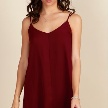 My Secret's Slip Dress Ruby