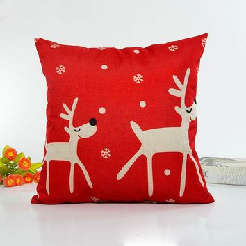 Christmas throw pillow case vintage