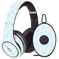 Soft Chateau Blue Damask Decal Skin for Beats Studio Headphones & Carrying Case by Dr. Dre