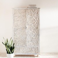 White Carved Armoire