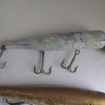 Vintage Atom Lure Deep Sea Fishing Lures Antique Lures/Fisherman Gift Idea/ Large Fishing Lures Nautical Decor/Beach House Decor/ Fish Decor