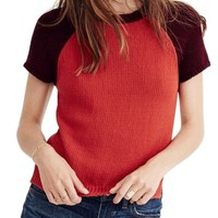 Madewell Colorblock Crop Sweater | Nordstrom