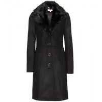 mytheresa.com -  Cassie shearling-trimmed wool coat  - Luxury Fashion for Women / Designer clothing, shoes, bags