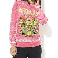 Ninja Turtles Burnout Sweatshirt - WetSeal