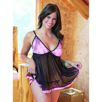 Wilderness Dreams Women's Camo Baby Doll Set - Naked North Pink - 603039