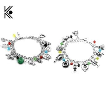 20pcs/lot Beauty and the Beast Bracelet The Viking Moana Toy Story 3 The Walking Dead Bracelets Pirates of the Caribbean Bangles