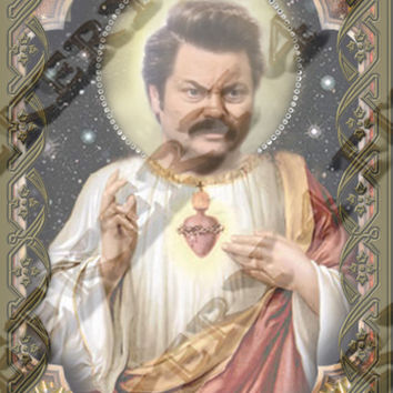 "Parks and REcreation Ron Swanson  - 8""  Celebrity Tribute Candles - Nick Offerman -   Heavenly geekery"