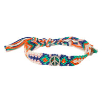 Peace Mint And Pink Friendship Bracelet