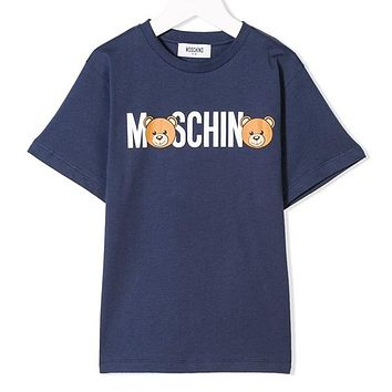 Moschino Children Girls Boys Casual Shirt Top Tee