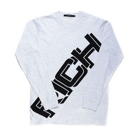 BIG RICH LONG SLEEVE TEE / ASH GRAY