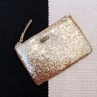 Kate Spade Gold Glitter Coin Purse