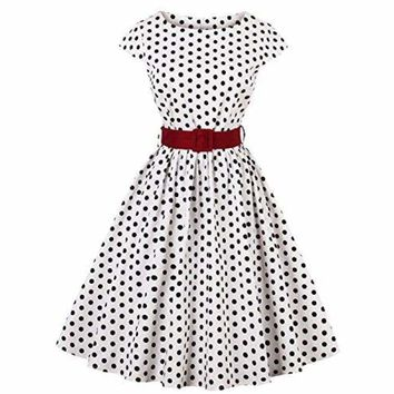 1950s Retro Vintage Hollywood Large Swing Midi Dress